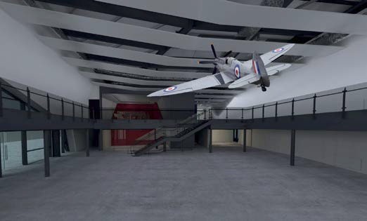 Exhibition hangar render