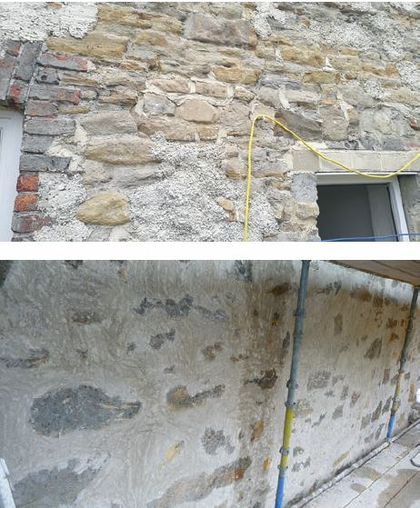 Poor substrate preparation, with a failure to fill voids