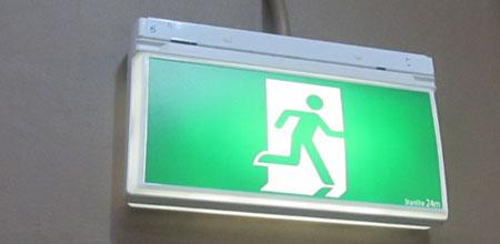Running person signage