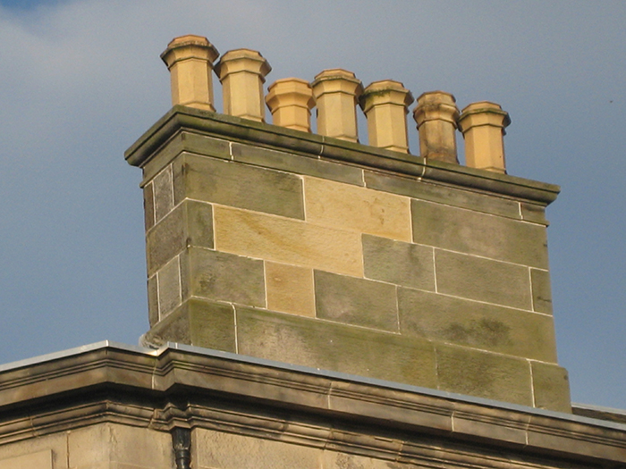 A traditional stack in Edinburgh showing