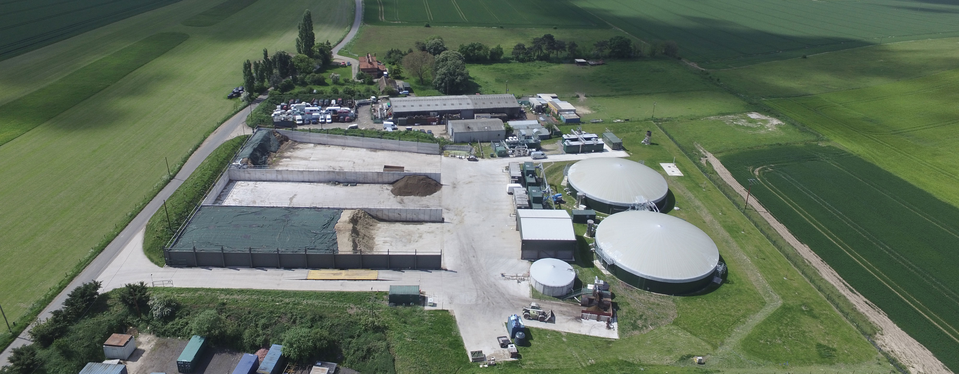 Biogas digesters at Icknield Farm, South Oxfordshire